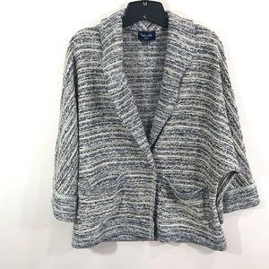 {splendid} Tweed Boho Marled Dolman Sleeve Cardi